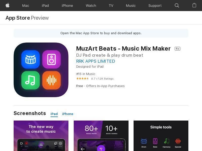 MuzArt Beats - iOS