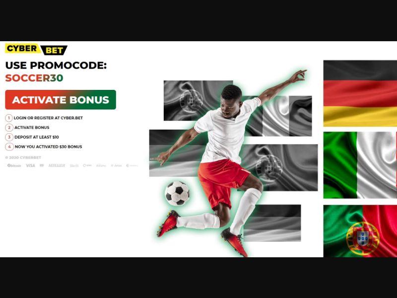 Cyber.Bet football (Facebook) [KE] - Registration + Deposit
