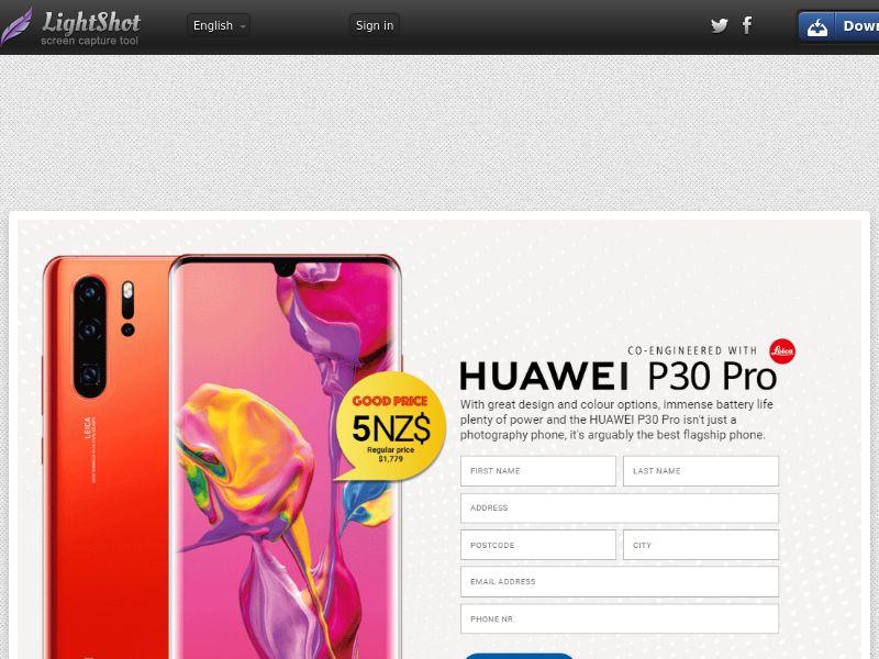 winlotsofthings Huawei P30 Pro (Sweepstake) (CC Trial) - New Zealand