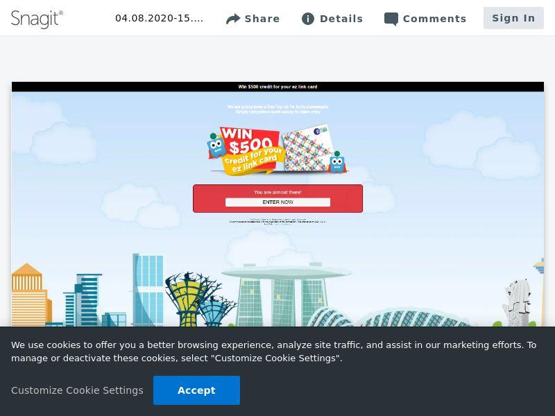 EZlink $500 Credit SOI   SG