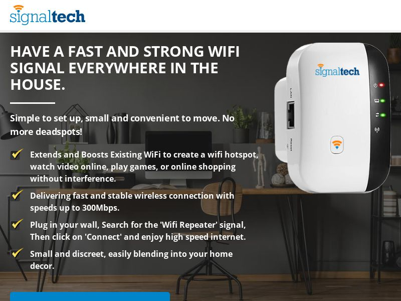 Signal Tech Booster - WiFi Booster ***Creative Approval Needed