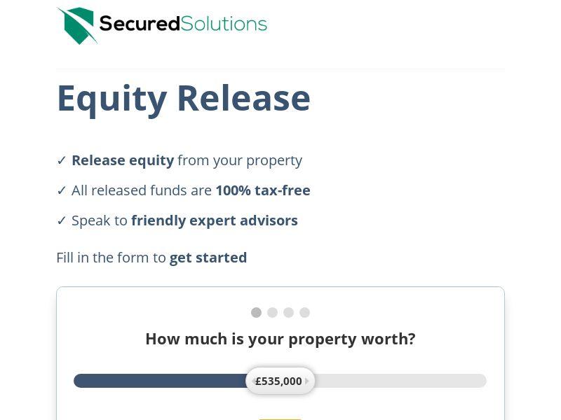 Equity Release - Long form lander - D1 - Email traffic - UK