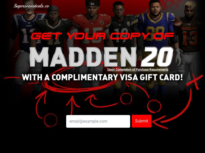 SuperSonicDeals Madden 20 - Email Submit - Incent