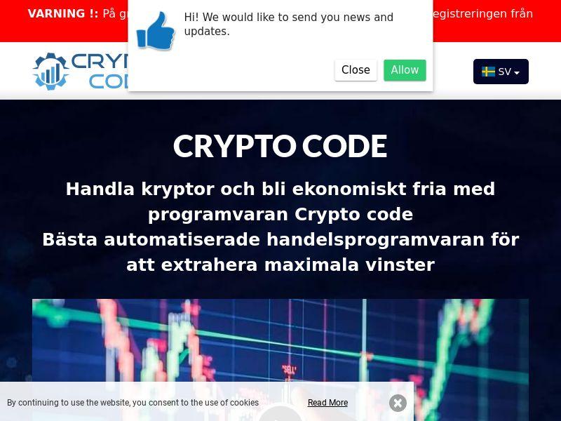 Crypto code Swedish 2258