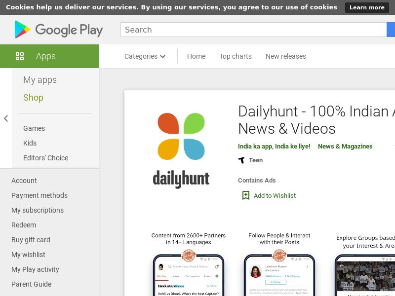 Dailyhunt Android IN