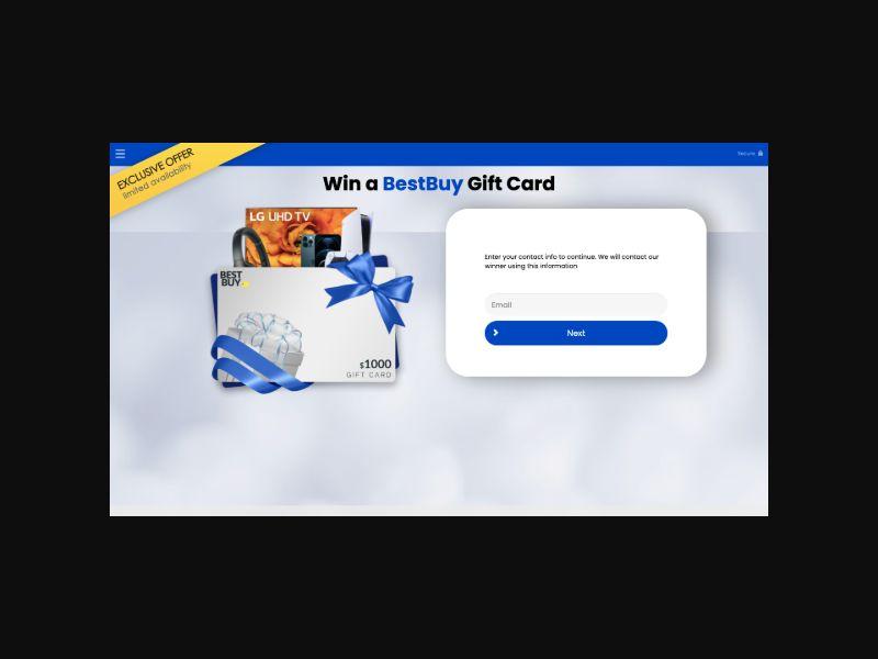 YOUSWEEPS $1000 Best Buy Gift Card (US) SOI