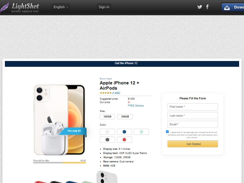 Socialmediago - Apple iPhone 12 + AirPods (US) (CA) (Trial) (Personal Approval)