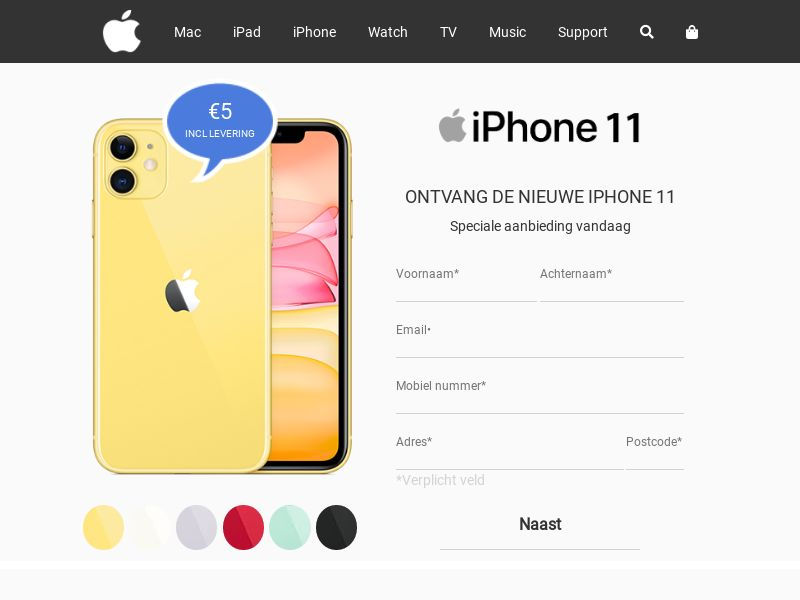 iPhone 11 [NL] (Email,Social,Banner,Native,Push,SEO,Search) - CPA