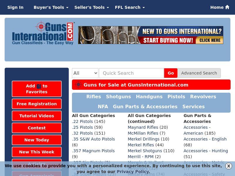 GunsInternational.com - Gun Classifieds The Easy Way! - Lead