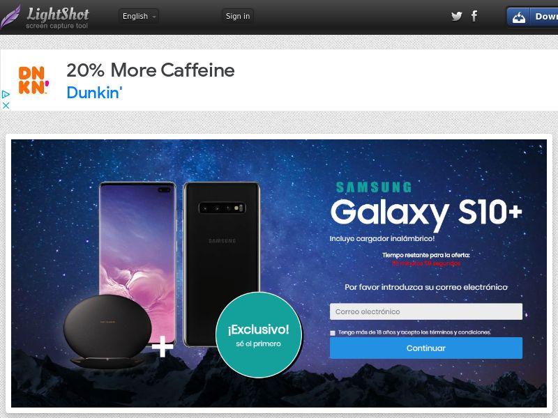 GetRealDeal Samsung Galaxy S10 (Sweepstake) (CC Trial) - Spain [ES]