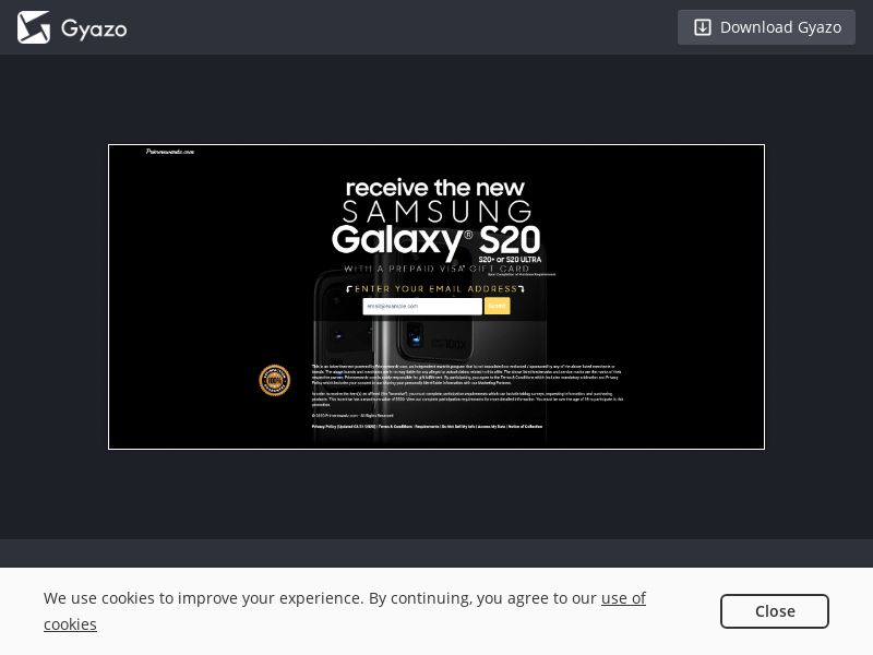 Galaxy S20 Sweeps - INCENT - US