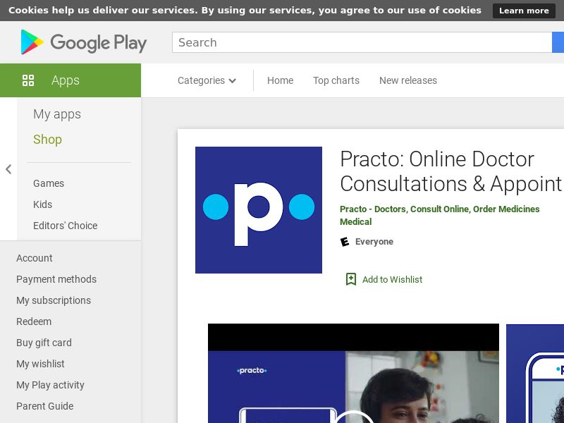Practo: Online Doctor Consultations & Appointments|IN|Android|Direct