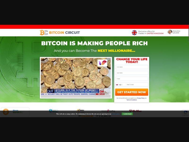 Bitcoin Circuit - £250 min CTC - VSL - Crypto - SS - [16 GEOs]