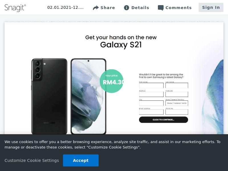 feelinglucky Samsung Galaxy S21 | MY