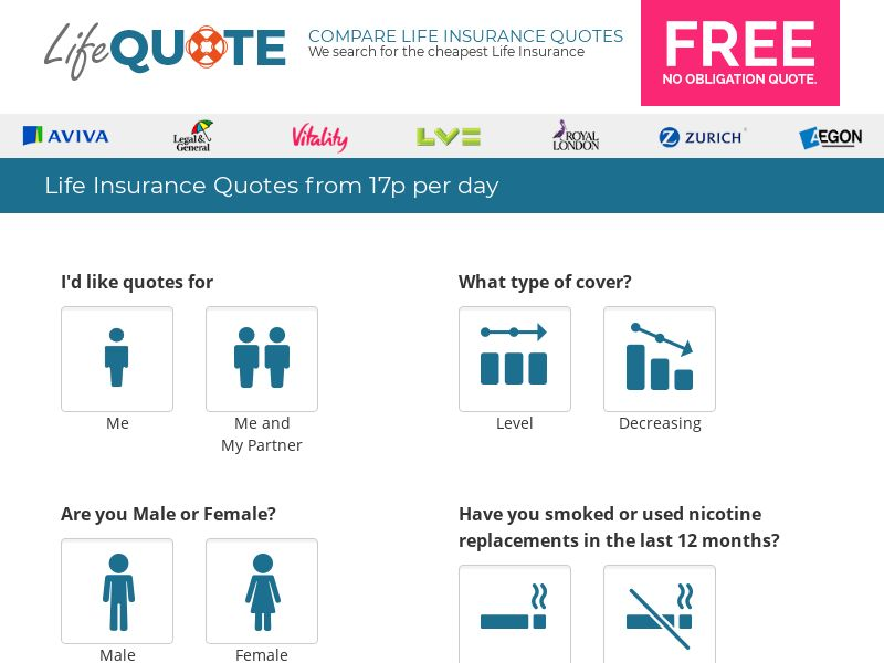 LifeQuote Life Insurance - UK