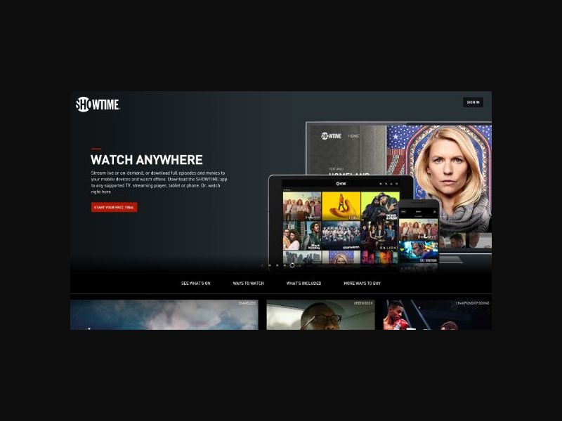 Showtime Free Trial Subscription (US)