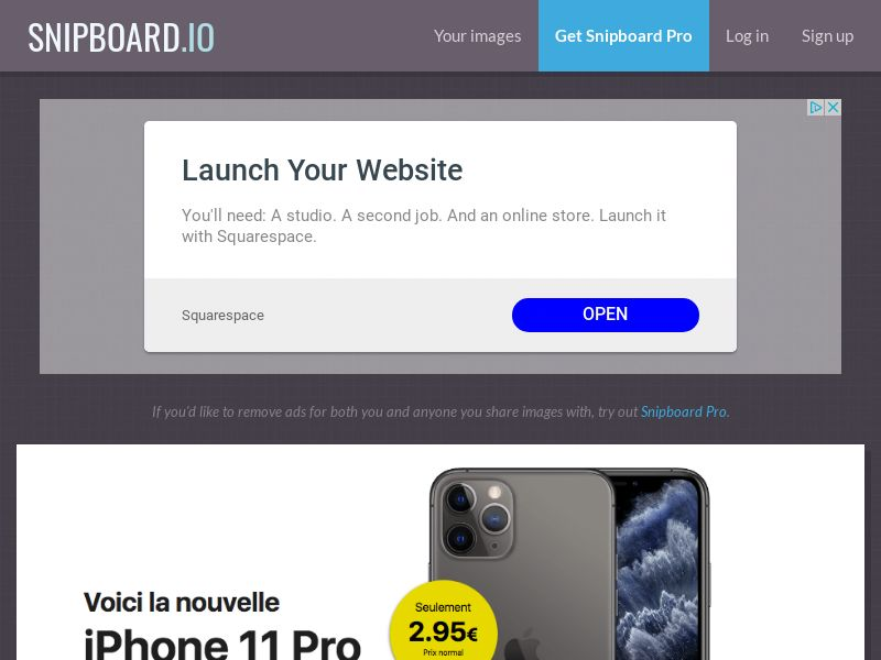 G33K Premium - iPhone 11 Pro Amazon - CC Submit