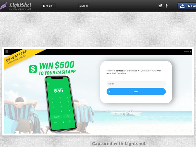YouSweeps - $500 Cash.App (US) (CPL) (Personal Approval)