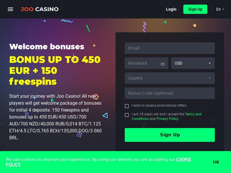 Joo casino СPA CA