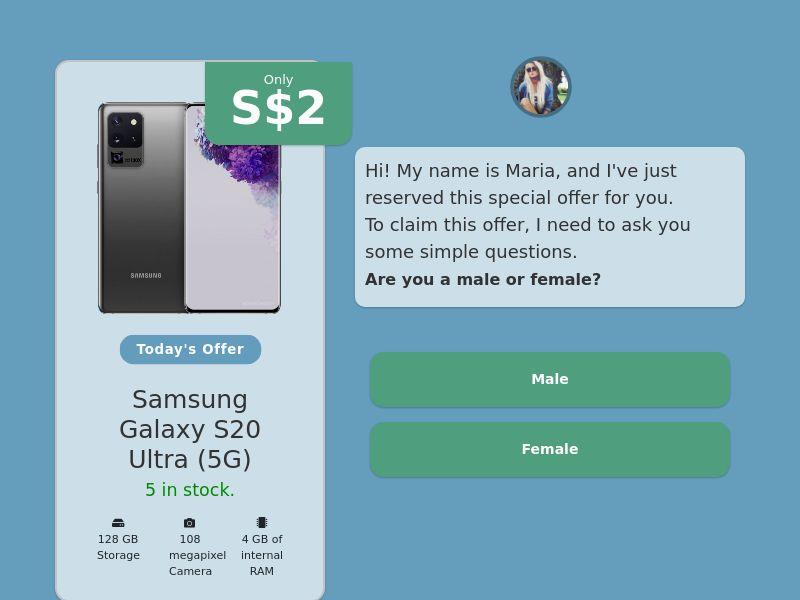 Step-by-step FUNNEL: Samsung Galaxy S20 Ultra - SG