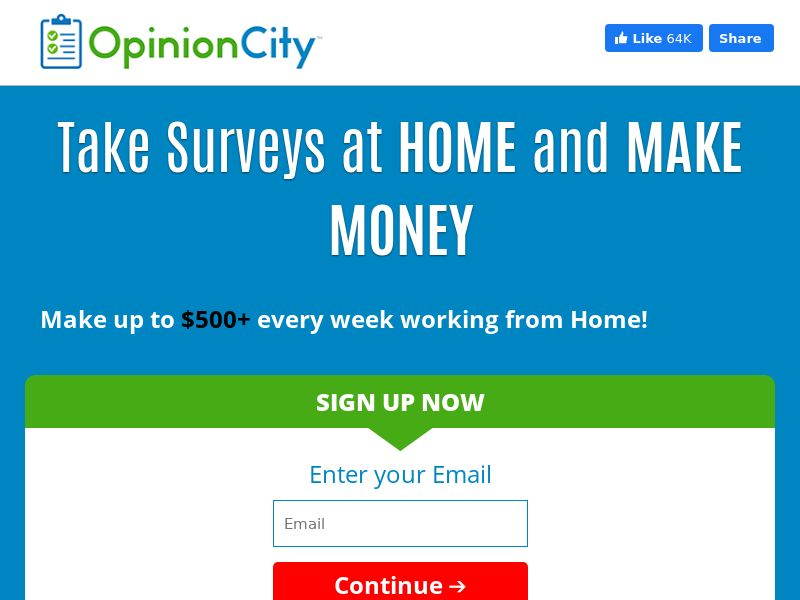 Opinion City - Email Submit - US