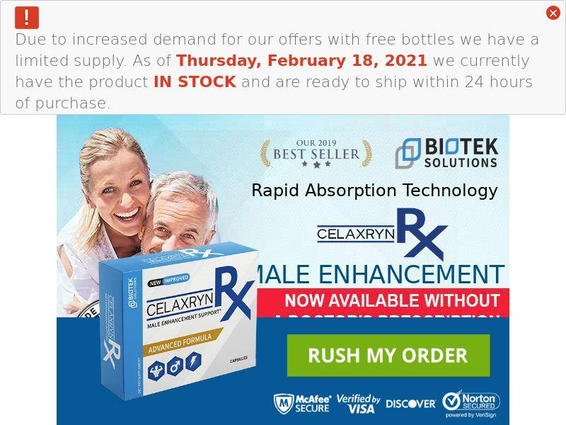 Celaxryn Male Enhancement Trial - US