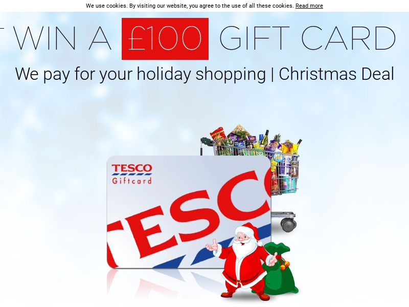 Tesco XMAS Voucher - UK (GB), [CPL], Lotteries and Contests, Single Opt-In, paypal, survey, gift, gift card, free, amazon