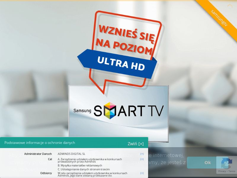 Samsung TV - PL (PL), [CPL], Lotteries and Contests, Single Opt-In, paypal, survey, gift, gift card, free, amazon
