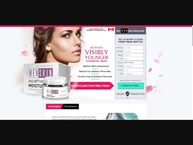 RevSkin Age Defying Moisturizer - Skin Care - Trial - [US]