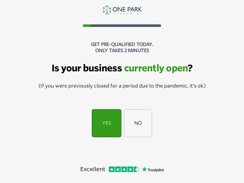 One Park Financial Small Business Loans