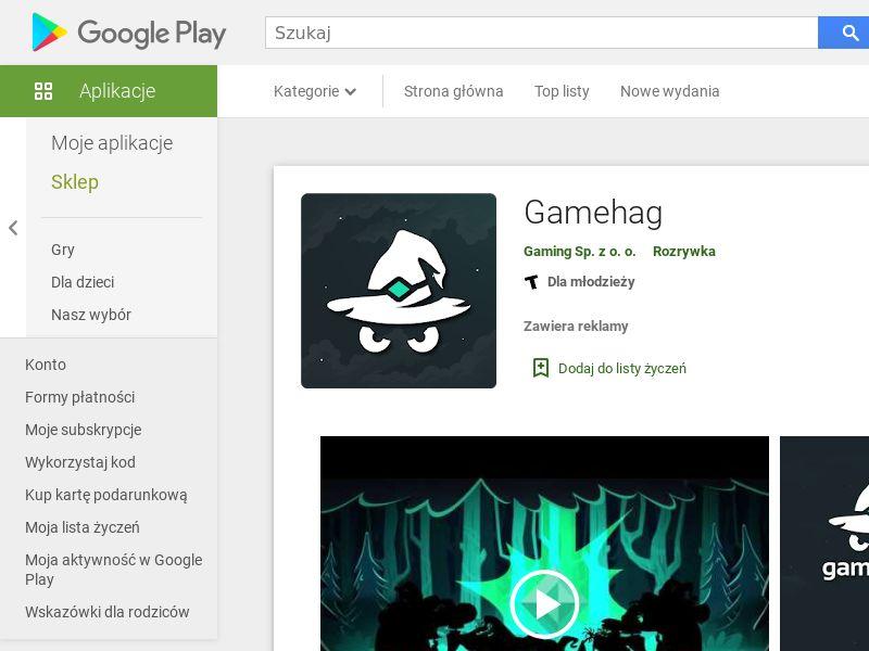 Gamehag - Android (CZ, HU, BG, ES, IL, PT, PL, HK, RO, LV, RU) (CPE)