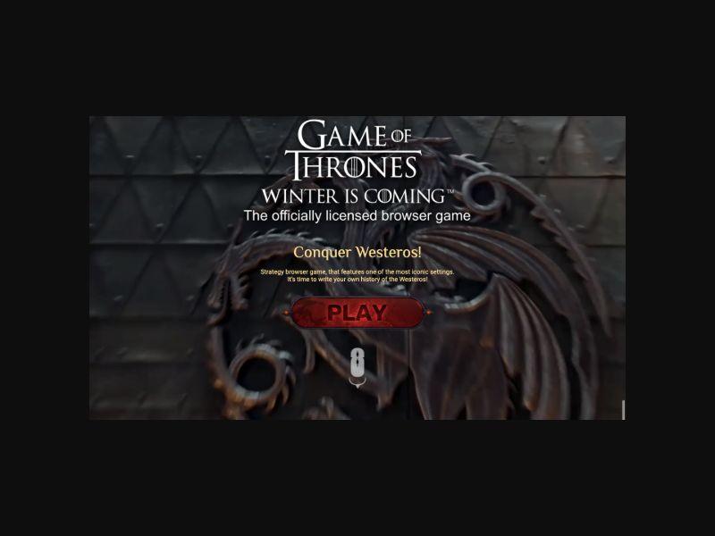 Game of Thrones (US,UK,CA) SOI