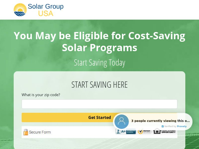 US - Solar Group USA - SOI - Nationwide - Email Only