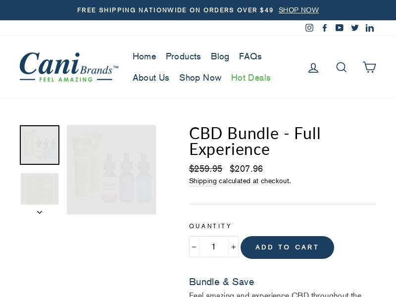 CaniBrands CBD Solution Full Experience
