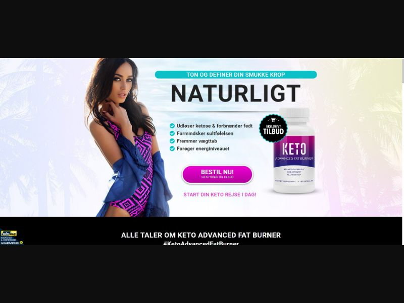 Keto Advanced Fat Burner - Diet & Weight Loss - SS - [DK]