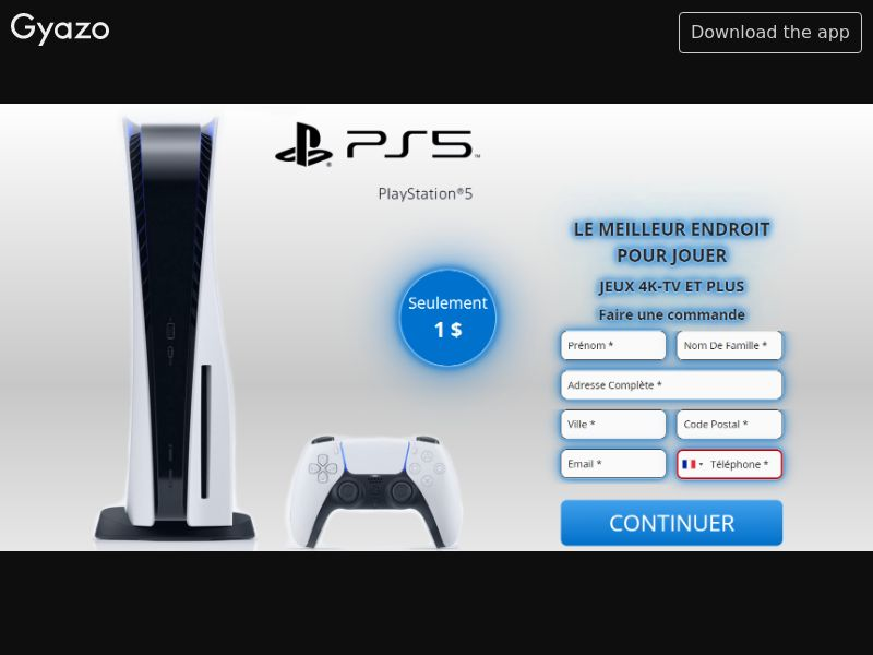 AbsoluteWinner - Win PS5 (FR, BE) (Trial) (Personal Approval)