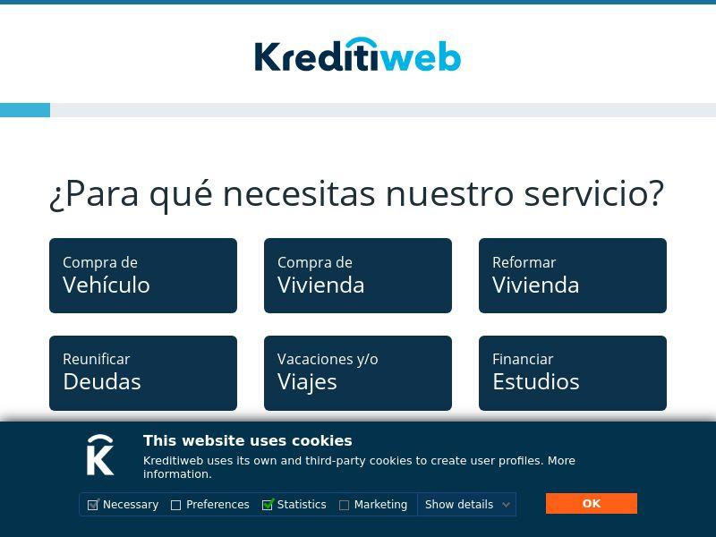 Kreditiweb - ES (ES), [CPA], Business, Credit, Cash credit, Credit Approval, loan, money, credit