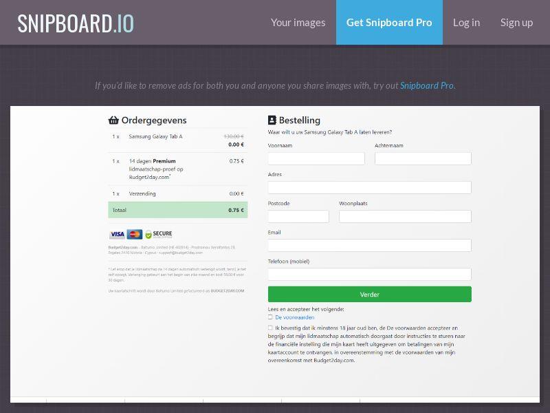 39565 - NL - Samsung Galaxy Tab A - CC submit