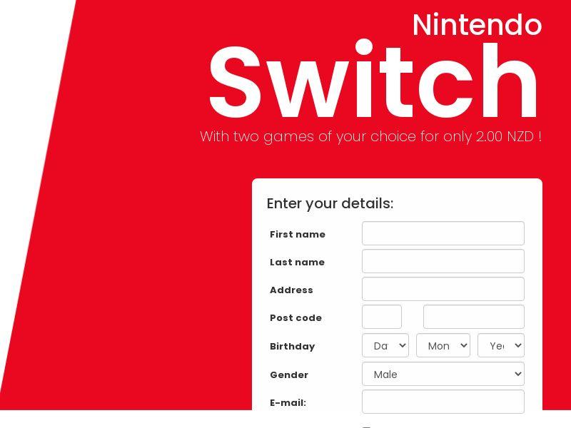 Nintendo Switch - NZ