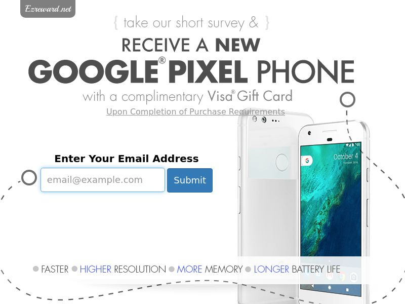 Incent - Email Submit Google Pixel Phone GC - US