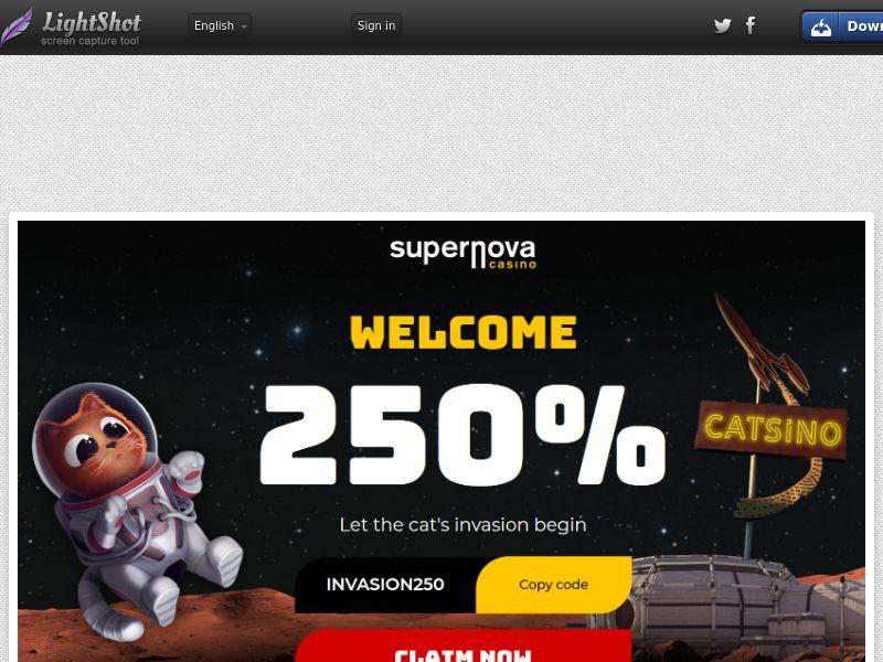 Supernova Casino (UK, US, CA, AU, NZ, FR) (CPS) (Personal Approval)