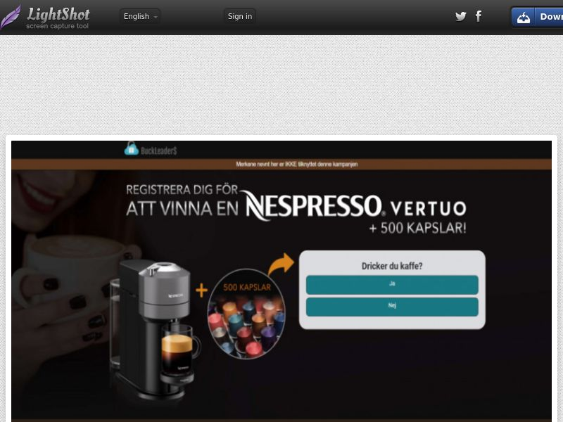 Buckleaders - Nespresso (SE) (CPL) (Personal Approval)