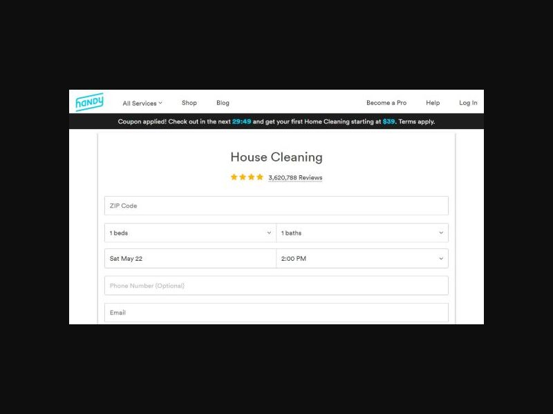 Handy Home Cleaning Services - RevShare (US)
