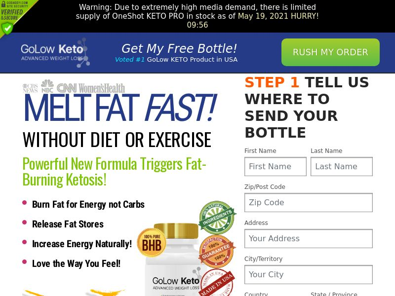 Golow Keto (PPS) - Health/Diet/Weight Loss - US, CA