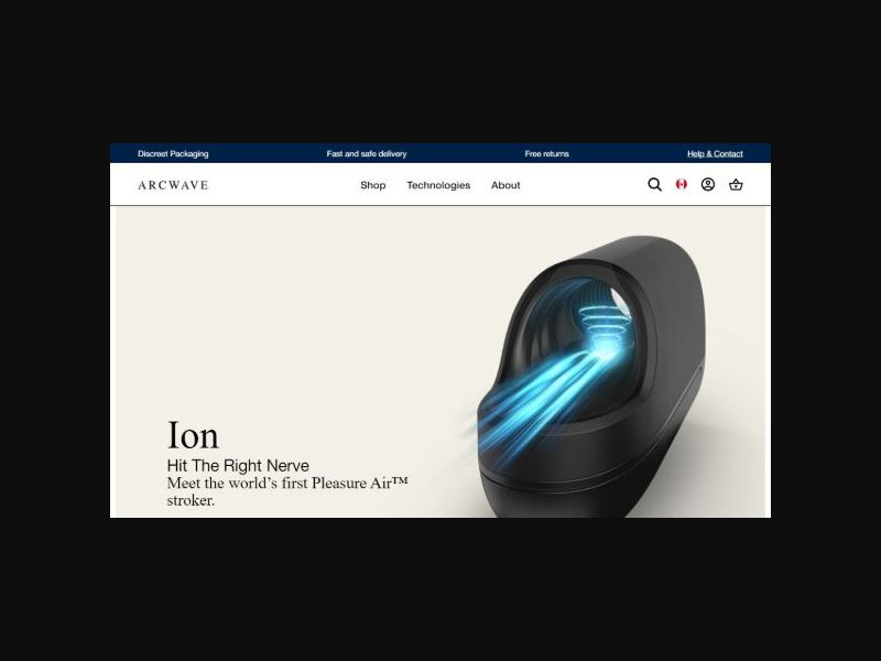 Arcwave ION - Male Sex Toy (US)