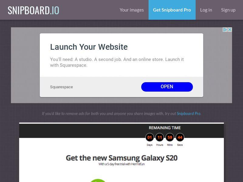 GamerExpert - Samsung Galaxy S20 AU - CC Submit