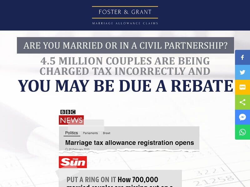 Foster And Grant Marriage Tax - CPL [UK]