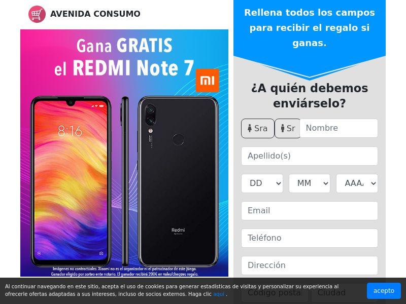 Gana el REDMI Note 7!