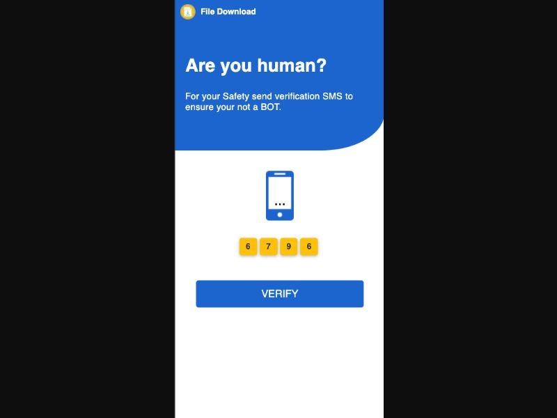 Verify Human Captcha [WW] - Click to sms