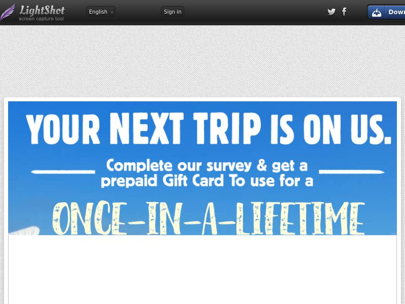 Travel Gift Card (Incent Allowed) (Sweepstake) (SOI) - United States